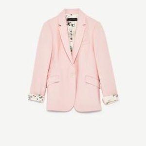 Zara Piqué Blazer With Shimmery Lining size M